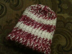 Banded Beanie with Decreased Crown
