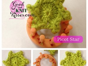 Loom Knitting Pretty Picot Flowers – Picot Star & Picot Petals