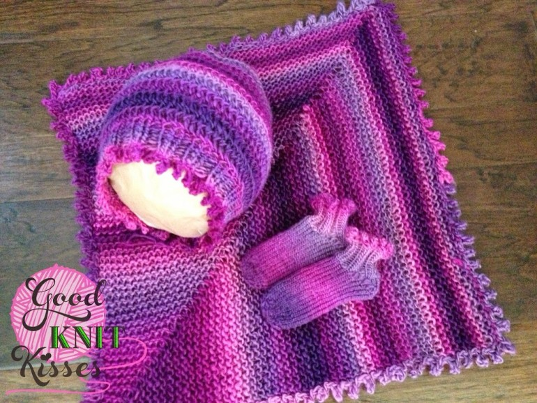 Picot Bonnet loom knit pattern - GoodKnit Kisses