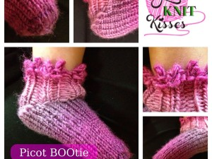 Picot BOOties | Loom Knit