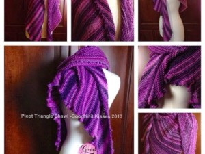Picot Triangle Shawl Pattern