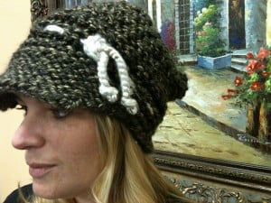 Loom a Hat - slouchy newsboy hat