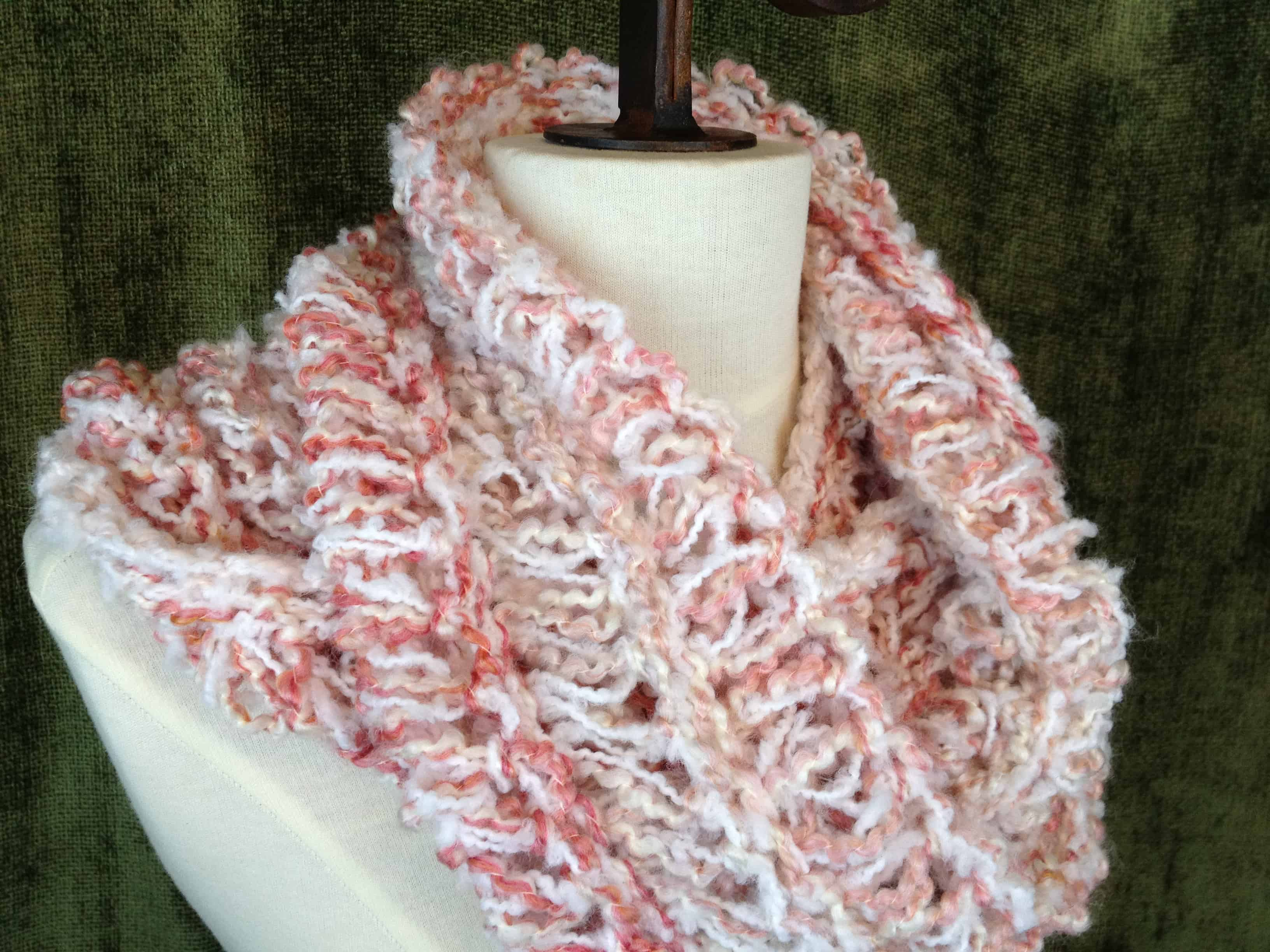 Old Fashioned Infinity Scarf Loom Knit Pattern Photo Sewing