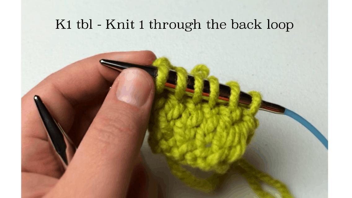 Knit 1 Through Back Loop k1tbl or k1 tbl - GoodKnit Kisses