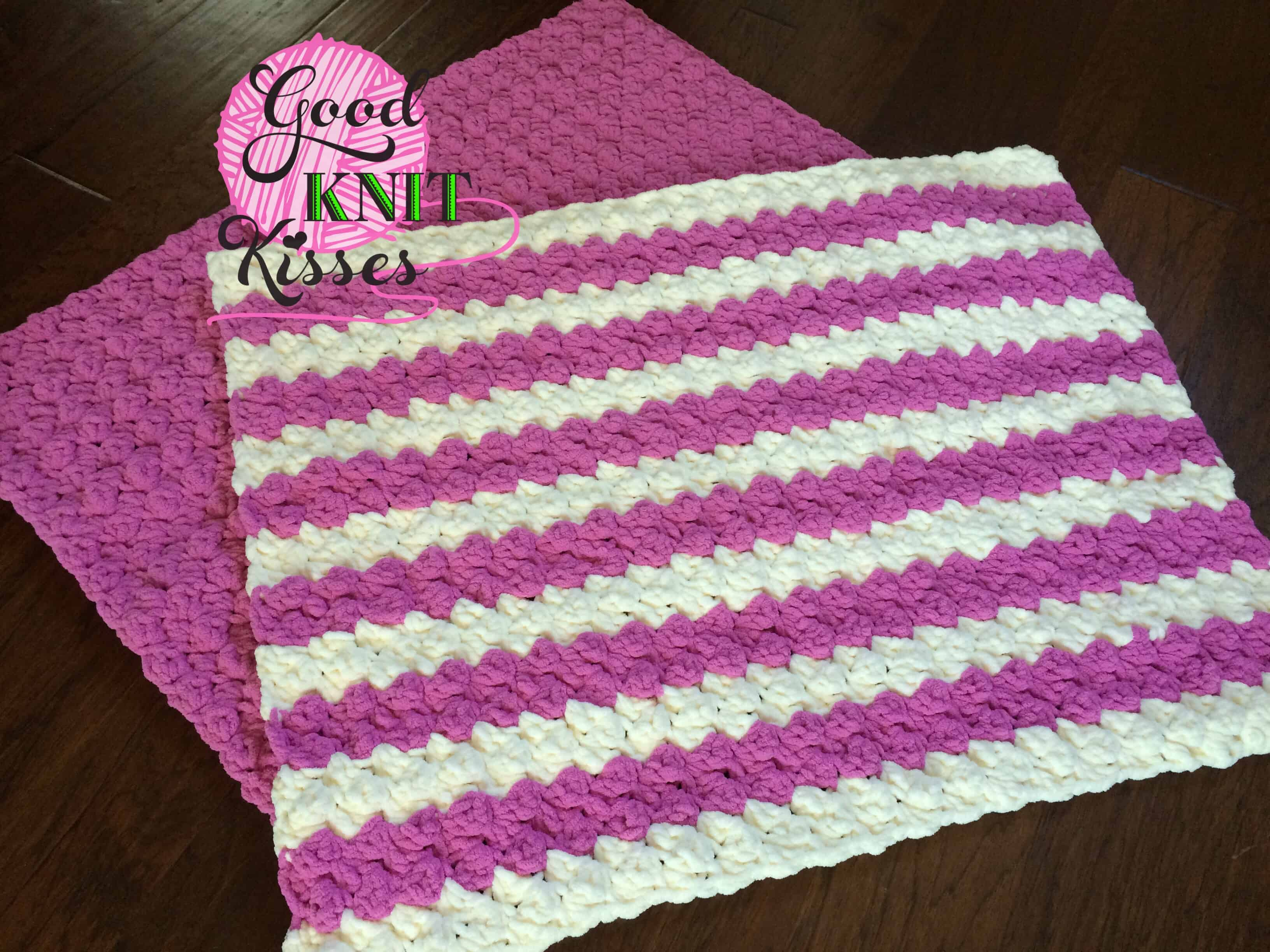 Marshmallow Crochet Baby Blanket - GoodKnit Kisses