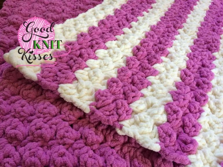 Crochet Pattern For Marshmallow Baby Blanket : Marshmallow Crochet Baby Blanket - GoodKnit Kisses