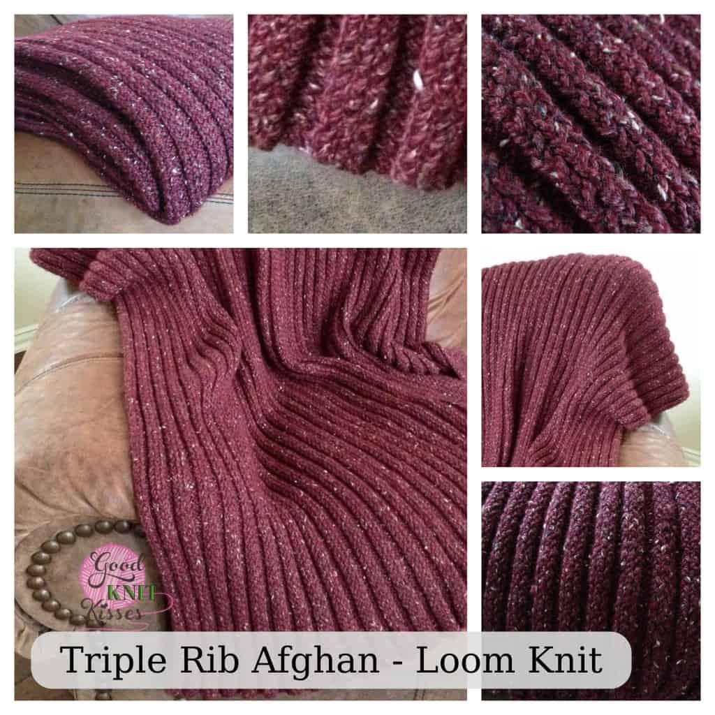 Loom Knit Rib Stitch Hat : Loom Knit Triple Rib Stitch - GoodKnit Kisses