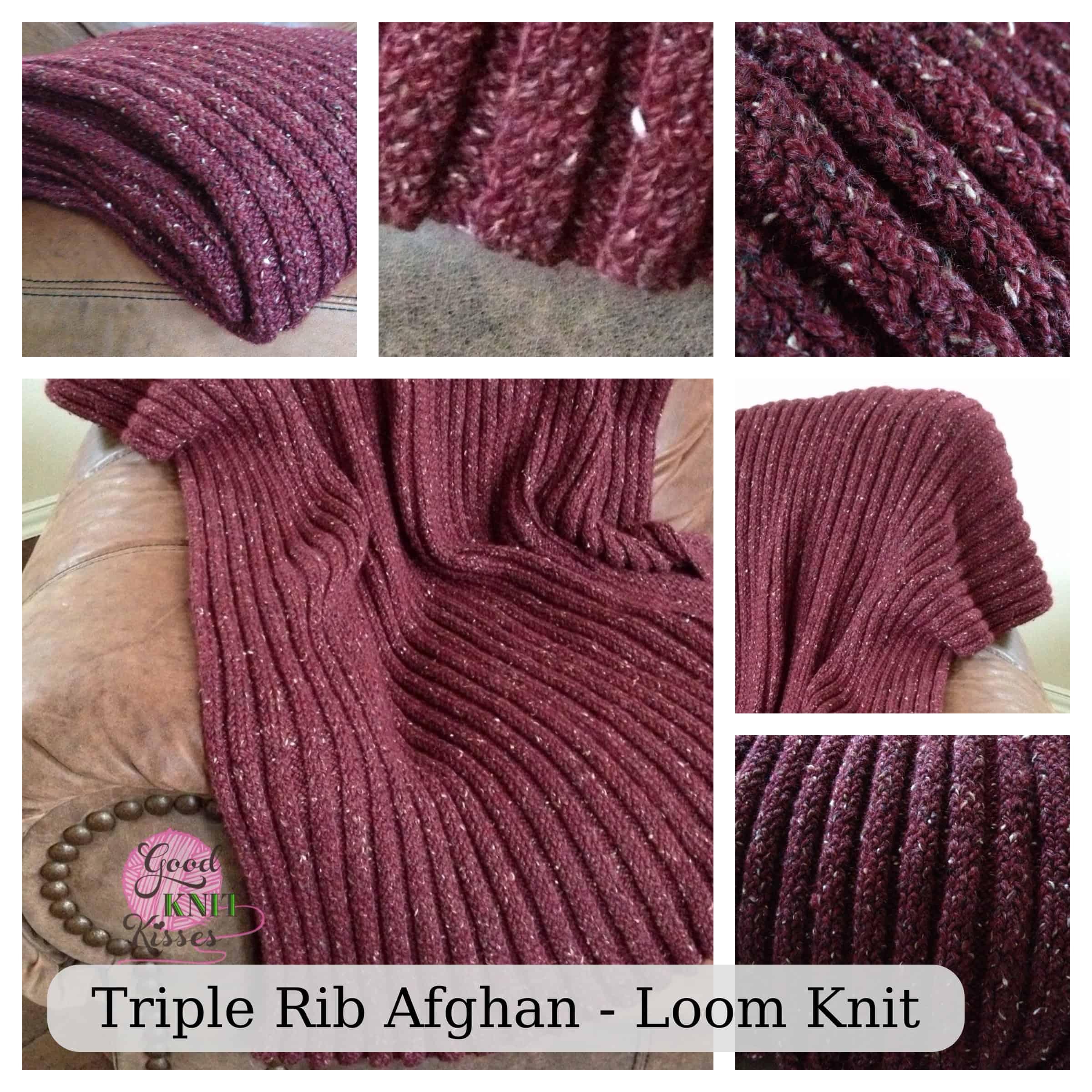 Loom Knit Triple Rib Stitch - GoodKnit Kisses