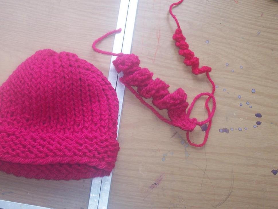 loom knit corkscrew