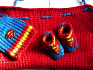 Superhero Cape, Hat and Booties