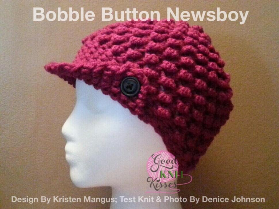 Bobble Button Newsboy