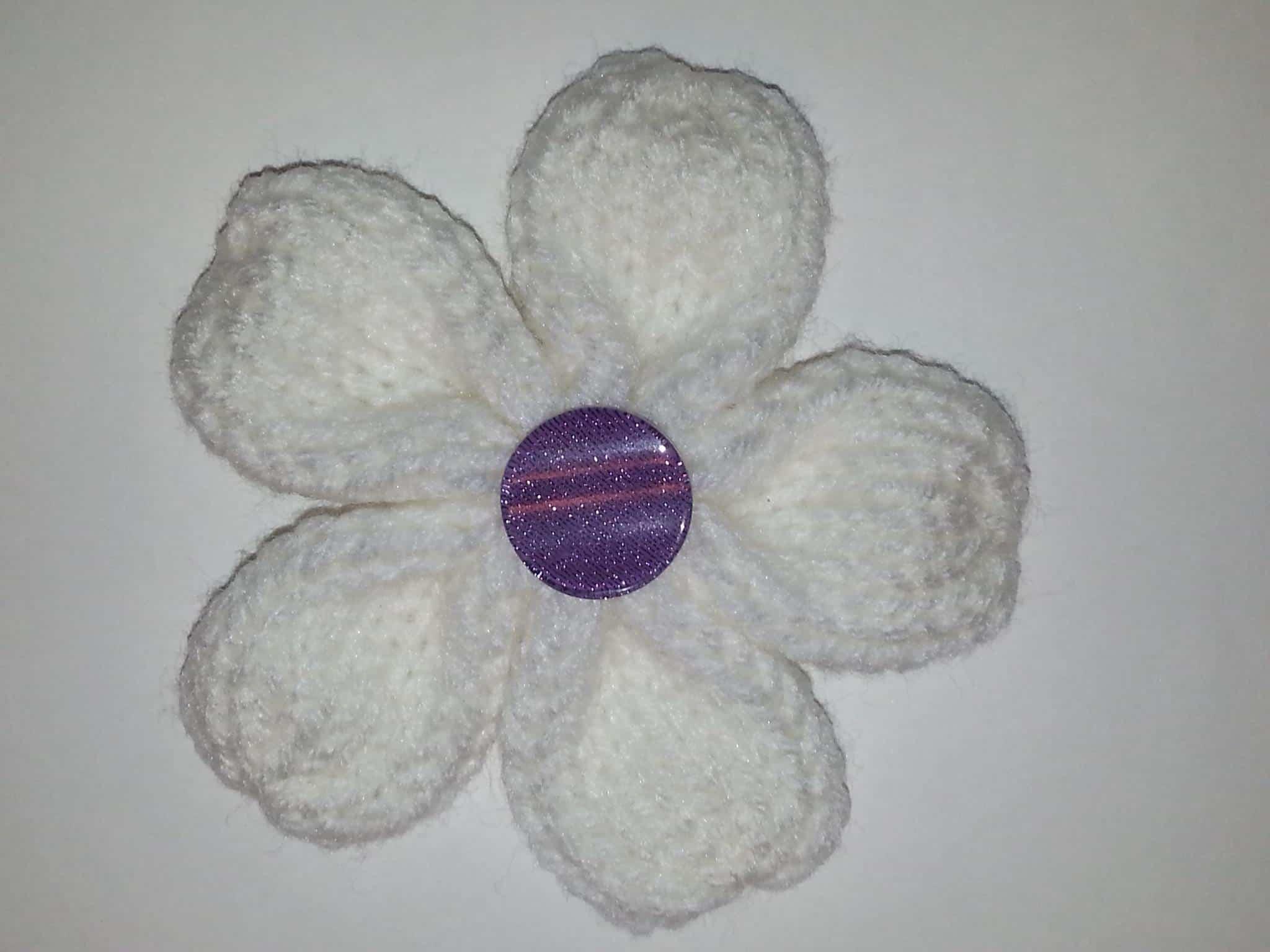 Five Petal Flower Loom Knit Pattern Goodknit Kisses