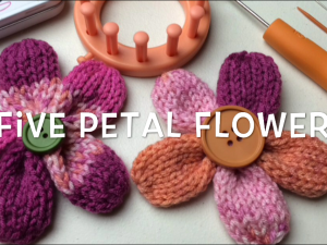 Five Petal Flower | Loom Knit Pattern