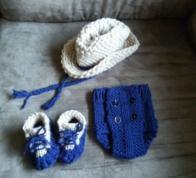 Knitting Pattern Baby Cowboy Booties : Loom Knit Diaper Cover Infant - GoodKnit Kisses