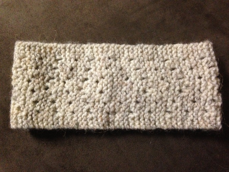 Chevron Ear Warmer Needle Knit Goodknit Kisses