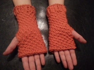 Fingerless Mittens |Loom