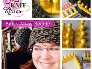 Zippy Loom Hat | Bulky Moss Beanie