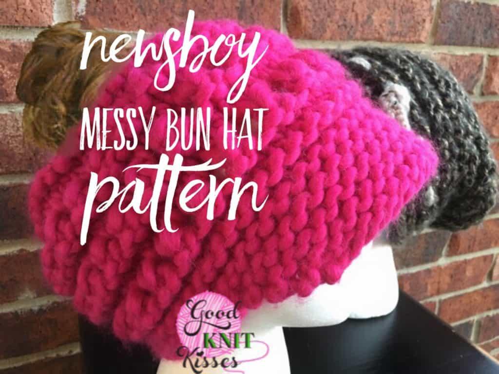 Newsboy Messy Bun Hat