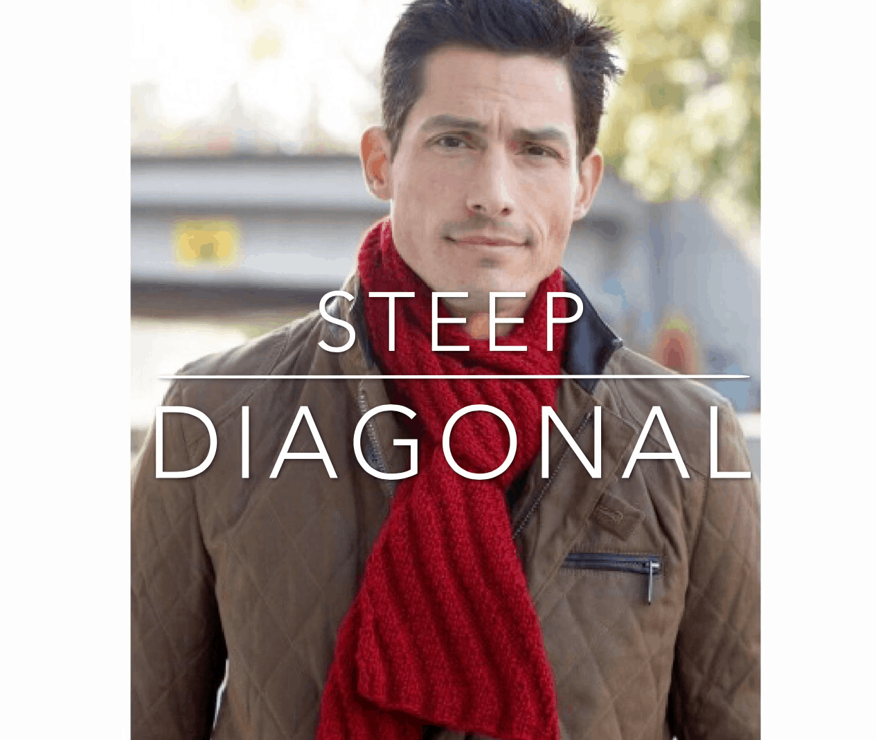 diagonal single guys This dramatic design is knit in four squares, with each square being knit from corner to corner use the auto-striping shade of cozy with love yarn for interesting colorations without having.
