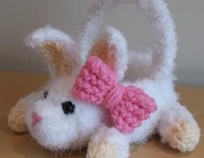 Bunny Easter Basket Loom Knit
