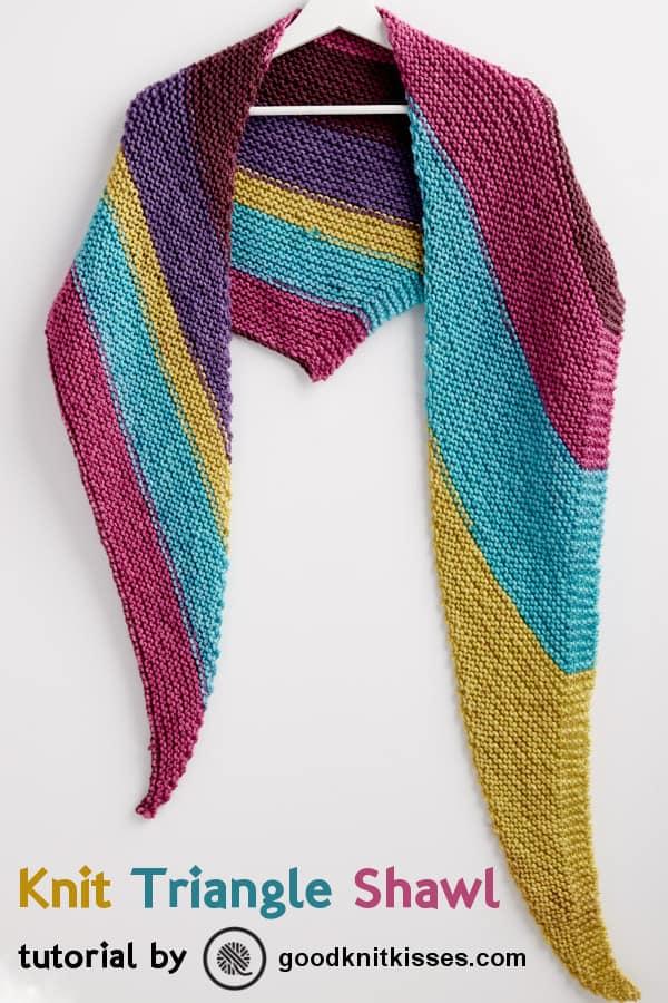 Bernat Pop Knit Triangle Shawl