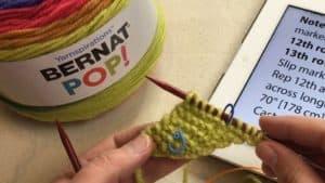 Bernat Pop! Knit Triangle Shawl