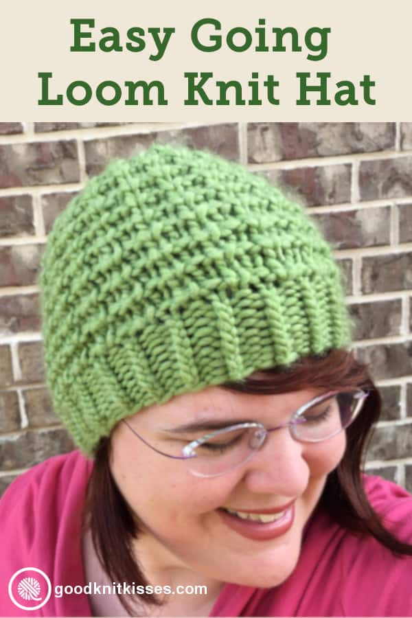 Easy Going Loom Knit Hat PIN Image