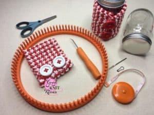 loom knit peppermint mug hug