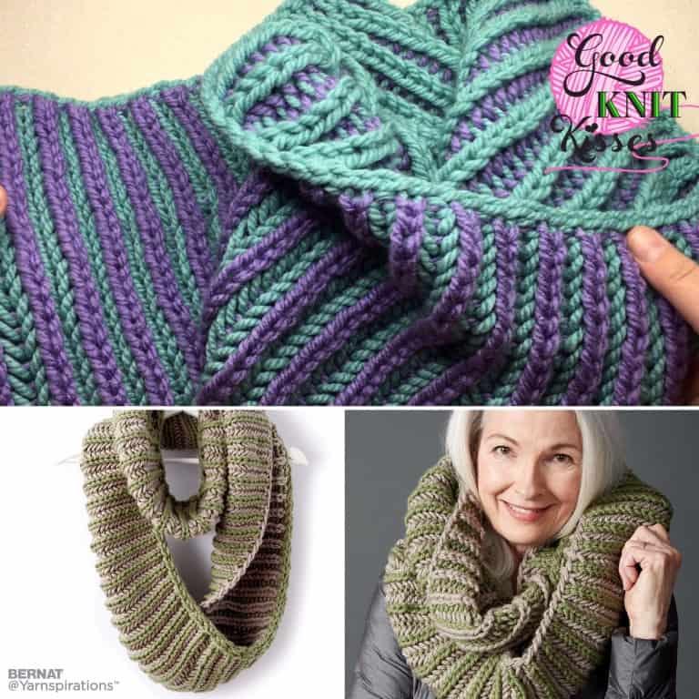 Brioche Accent Knit Cowl - GoodKnit Kisses