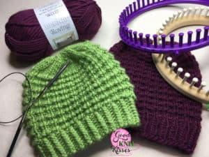 Easy Going Loom Knit Hat Goodknit Kisses