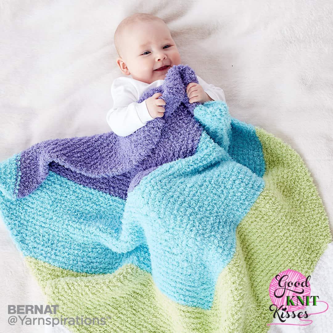 Knit Chevron Baby Blanket | Yarnspirations - GoodKnit Kisses