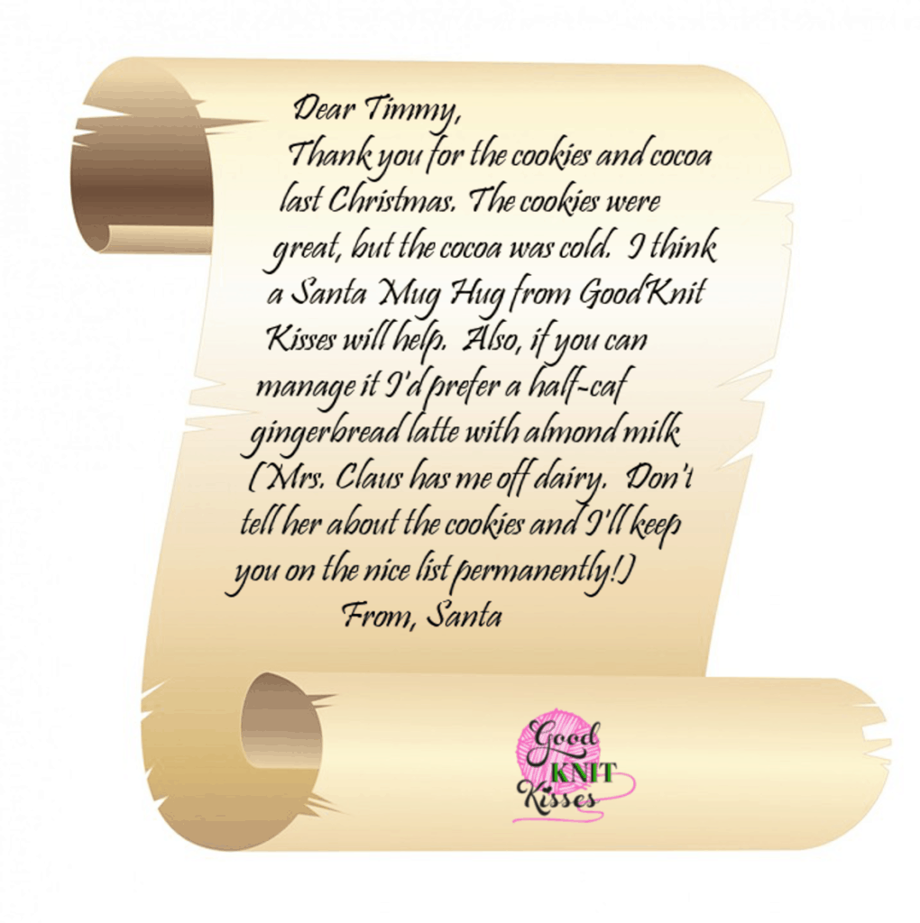 Letter From Santa Template Cyberuse  Thank You Letter From Santa