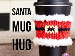 Santa Mug Hug | Yarnspirations