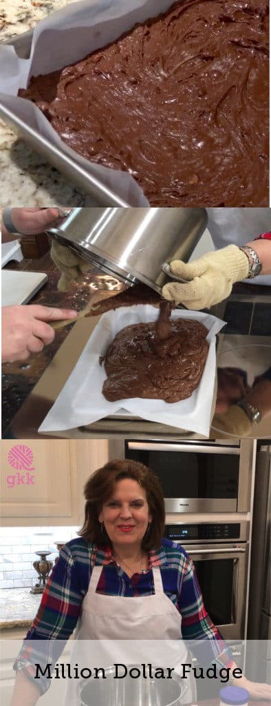 Come on over to the ranch and join Mom as she shows us how to make her classic Million Dollar Fudge http://goodknitkisses.com/million-dollar-fudge/ #goodknitkisses #chocolatefudge #milliondollarfudge #recipe #classicfudge