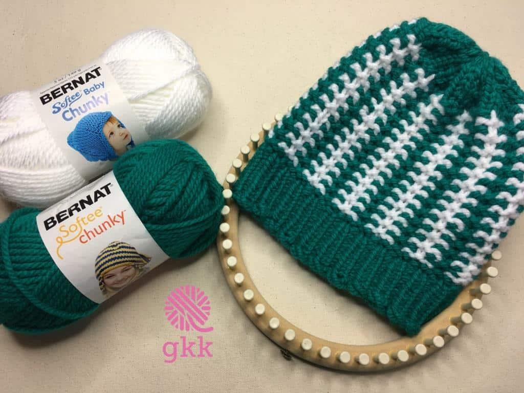 Stadium Stripes Hat Loom Knit Goodknit Kisses