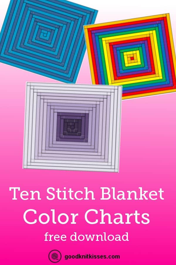 Ten Stitch Color Charts PIN
