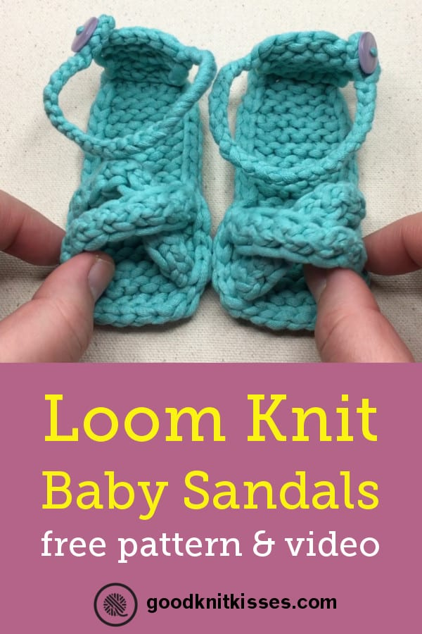 NEW Loom Knit Baby Sandals Video PIN
