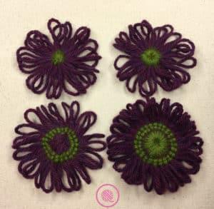 Flower Loom Techniques: 4 varieties of loom knit flowers
