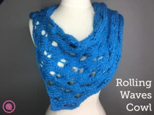 Rolling Waves Cowl | Needle Knit