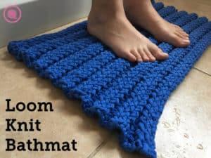 Loom Knit Bathmat
