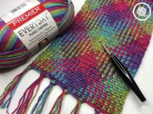 Easy Planned Pooling Scarf