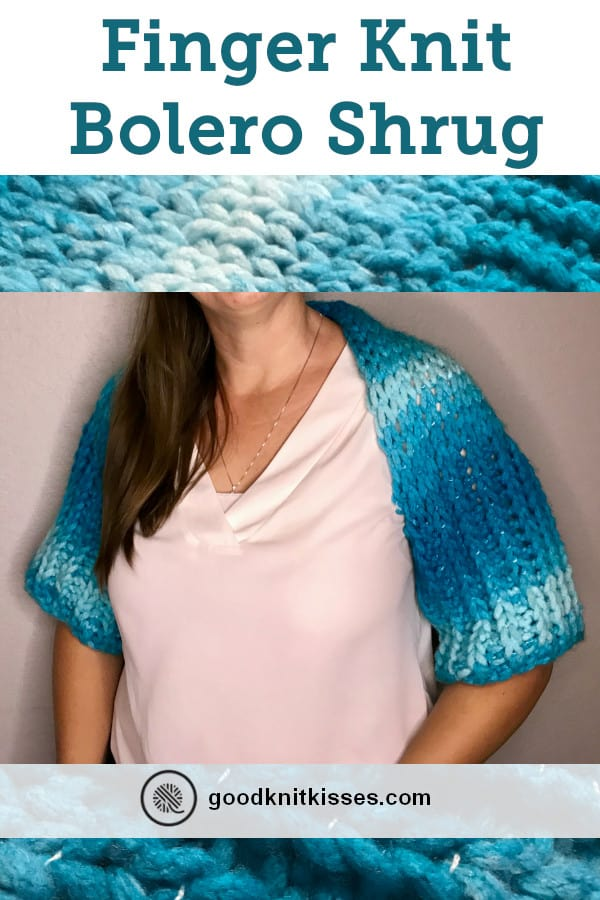 Finger Knit Bolero Shrug Pin image