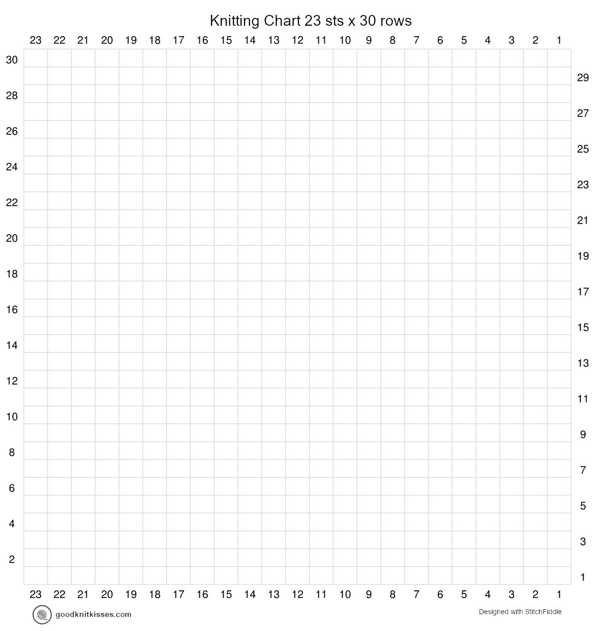 duplicate stitch charts blank