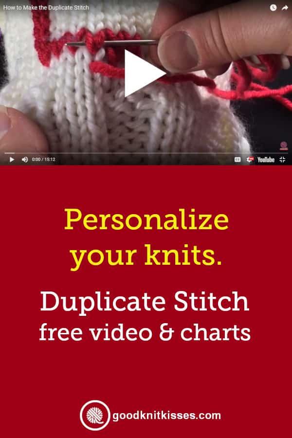 Duplicate Stitch Charts pin