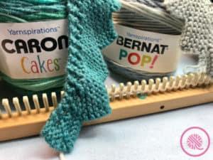Loom Knit Shawl Materials and Yarn