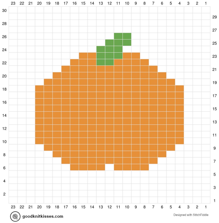 duplicate stitch charts Pumpkin Knitting Chart