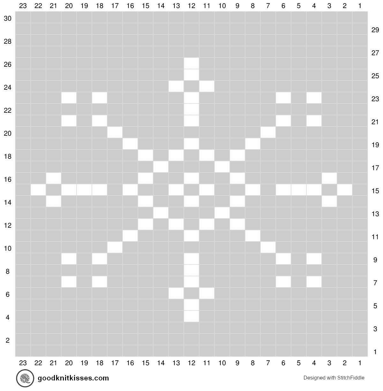 Duplicate stitch chartsSnowflake Knitting Chart