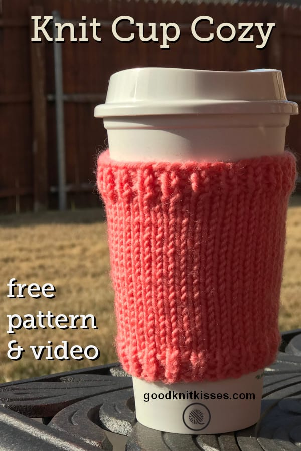 basic knit cup cozy pin image