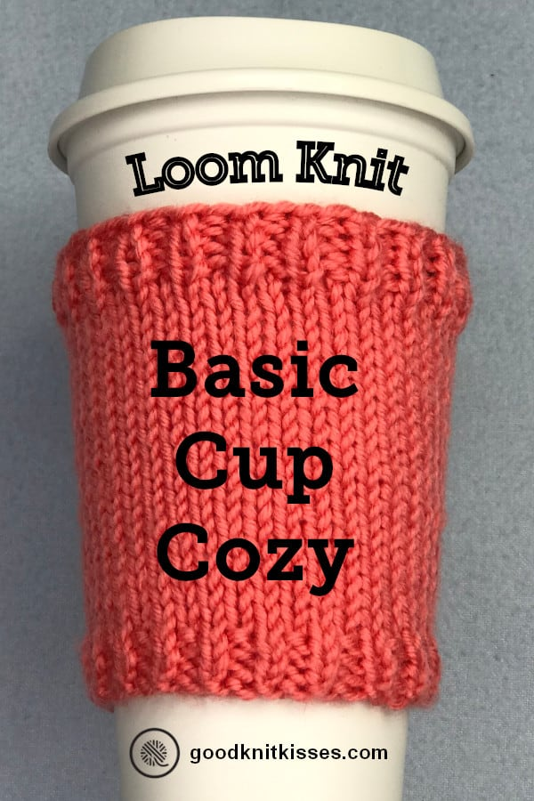 Basic Loom Knit Cup Cozy Pin image