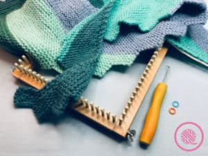 Loom Knit Shawl with loom